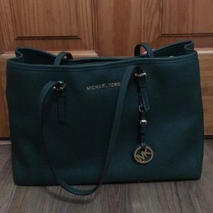 Authentic Michael Kors Emerald Green Tote